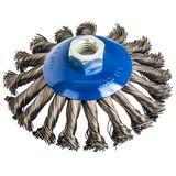 Кордщетка для МШУ радиальная витая ПРАКТИКА с наклоном, 125 мм, хвост М14, блистер (1шт), 032-508