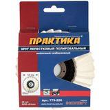 Круг лепестковый полировальный ПРАКТИКА 125 х 22 мм, войлочный, не абразивный, 779-226