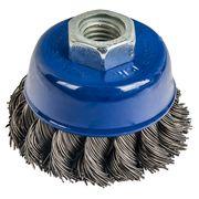 Кордщетка для МШУ чашеобразная витая ПРАКТИКА 65 мм, хвост М14, блистер (1шт), 032-454