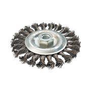 Кордщетка для МШУ радиальная витая ПРАКТИКА 125 мм, хвост М14, 242-656