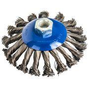 Кордщетка для МШУ радиальная витая ПРАКТИКА с наклоном, 115 мм, хвост М14, блистер (1шт), 773-347
