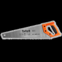 Tulips ножовка по дереву, двухкомпонентная рукоятка, каленый зуб, 7 зубов/дюйм IS16-400