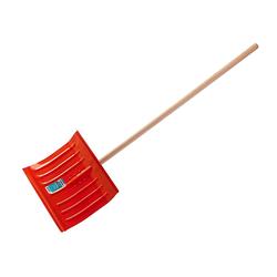 Лопата снеговая стальная с деревянным черенком, 430мм, оранжевая, СИБИН 421841
