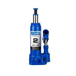 Домкрат гидравлический бутылочный T50, 2т, 180-347мм, в кейсе, ЗУБР Профессионал 43060-2-K