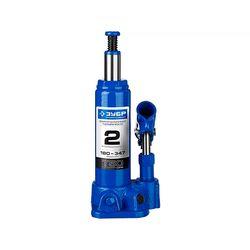 Домкрат гидравлический бутылочный ЗУБР Профессионал T50, 2т, 180-347мм, 43060-2_z01