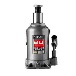 Домкрат гидравлический бутылочный, 20т, 230-430 мм, MIRAX 43260-20