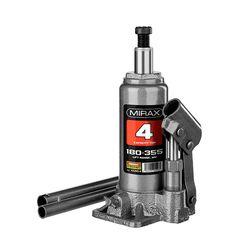 Домкрат гидравлический бутылочный, 4т, 180-355 мм, MIRAX 43260-4