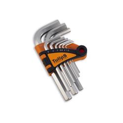 Tulips набор шестигранных ключей, CrV сталь, сатин.покрытие (9 шт), IK12-955