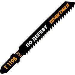 Пилки для лобзика по дереву, ДСП ПРАКТИКА тип T119B 76х50 мм, грубый рез, HCS (2 шт), 034-588