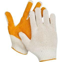 Перчатки ЗУБР ЭКСПЕРТ трикотажные, 10 класс, х/б, защита от скольжения, S-M, 11452-S