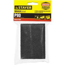 Губка шлифовальная STAYER Master, 4 стороны, оксид алюминия, Р80, 100x68x26мм, 3560-2_z01