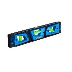 Уровень строительный магнитный ПРАКТИКА серия Профи, 250 мм, Торпедо, 3 глазка, 242-854