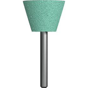 Шарошка абразивная ПРАКТИКА трапециевидная 35х25 мм, хвост 6 мм, карбид кремния, блистер, 641-381