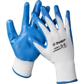 """Перчатки ЗУБР """"МАСТЕР"""" маслостойкие для точных работ, с нитриловым покрытием, р-р S (7), 11276-S"""