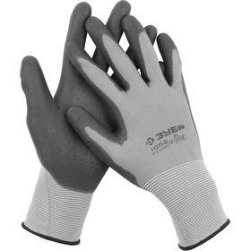 """Перчатки ЗУБР """"МАСТЕР"""" для точных работ с полиуретановым покрытием, р-р L (9), 11275-L"""