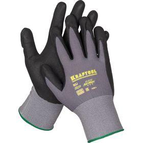 """Перчатки KRAFTOOL """"EXPERT"""" нейлоновые, 15 класс, вспененное нитриловое покрытие, L, 11285-L"""