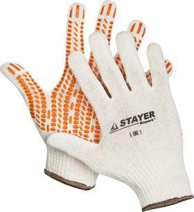 "Перчатки STAYER ""EXPERT"" трикотажные, 10 класс, х/б, L-XL, 11401-XL"