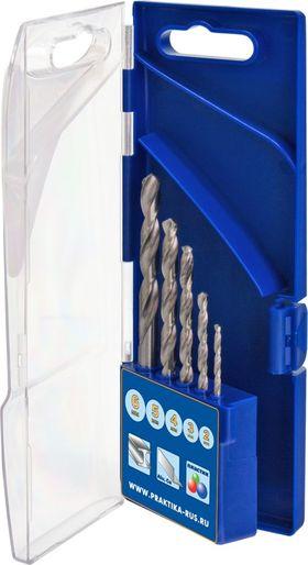 "Набор сверл по металлу ПРАКТИКА ""Профи"", 2,3,4,5,6 мм, кассета (5 шт), 640-230"